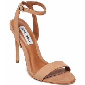 quality design 58521 5f0cc Steve Madden Laden Suede Nude Strappy Sandals NWT